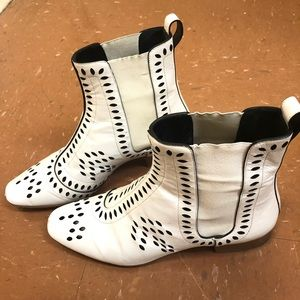 Christian Dior White Boots